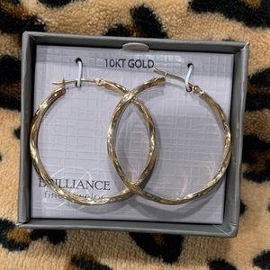 10K gold twist hoops